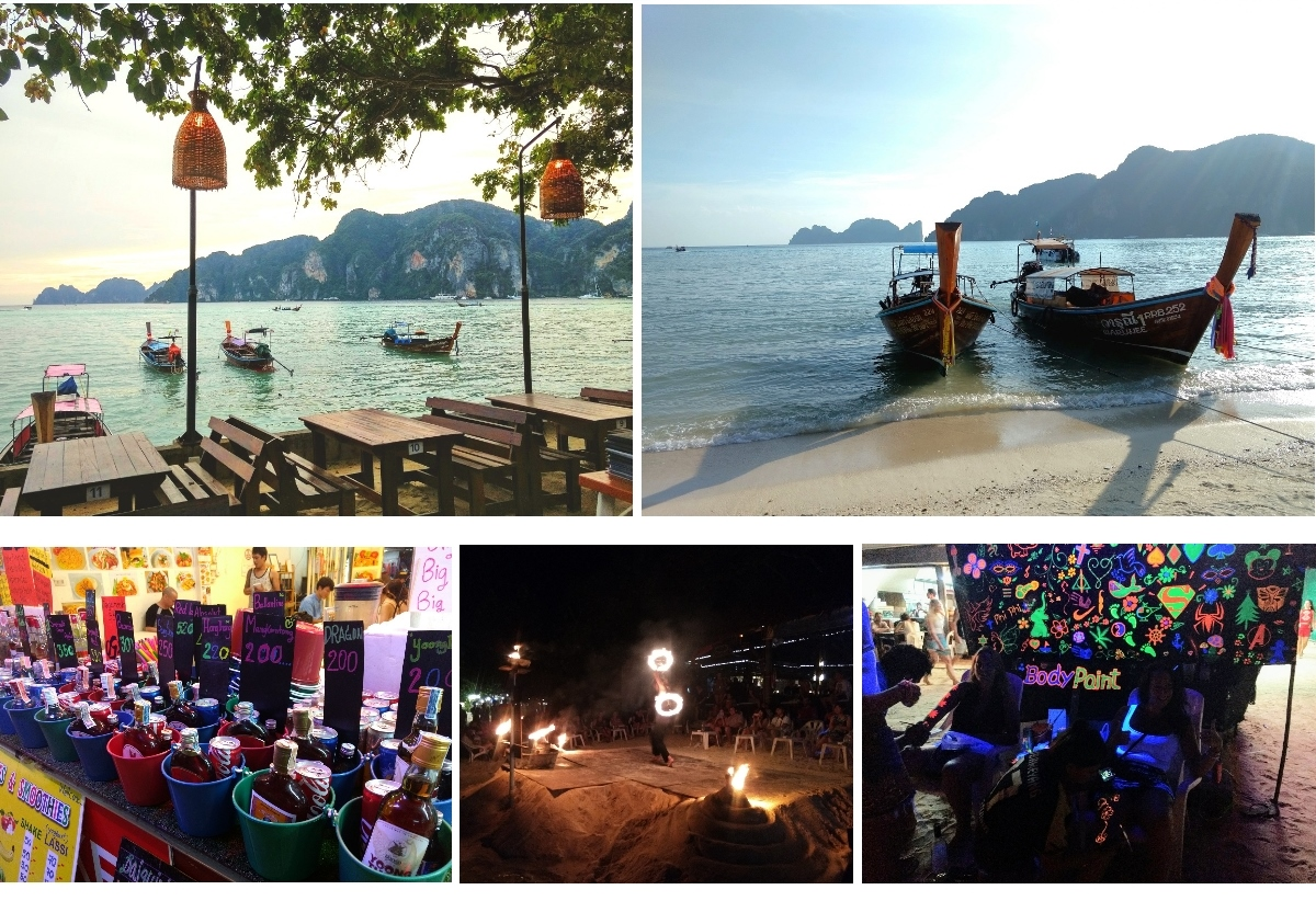 koh phi phi ile thailande plage full moon party